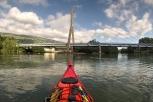 Pont reliant Seyssel Ain à Seyssel Haute Savoie