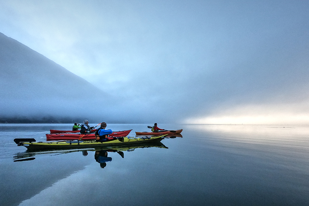 [photos] Le lac d'Aiguebelette en kayak